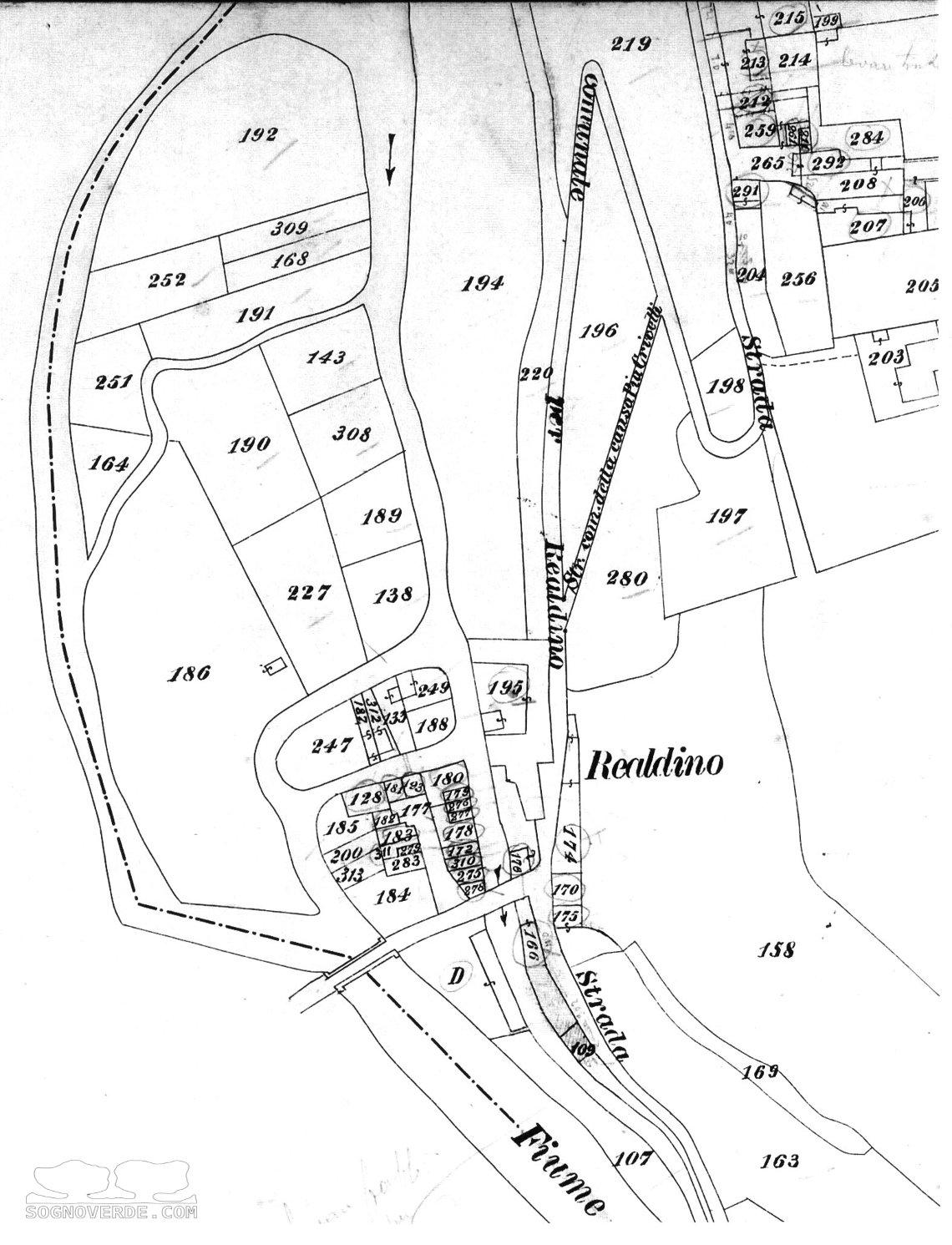Mappa di Realdino 1897-1902