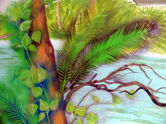 Decorazione interni giungla